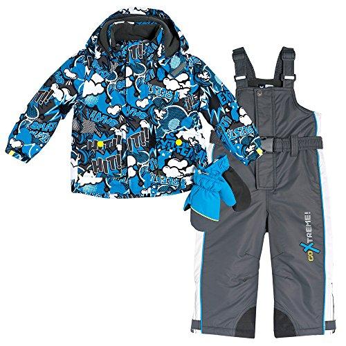 Flurry by CHICCO Kinder Schneeanzug Gr. 122 mit Thermore®-Funktionswattierung inkl. Handschuhe Snowboard/Skianzug mit abnehmbarer Kapuze und Schneefang wasserdicht, winddicht und atmungsaktiv