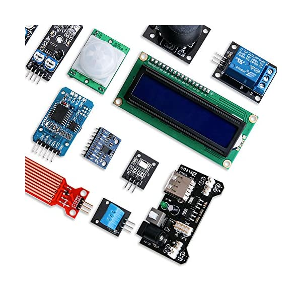 61ucBUX70hL. SS600  - ELEGOO Actualizado 37-en-1 Kit de Módulos de Sensores con Tutorial para Arduino UNO R3 Mega 2560 Nano Arduino Sensores Kit Raspberry Sensores