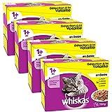 Whiskas - Sélection à la Volaille en Gelée 1 avec - Sachets Fraîcheur pour chats 12 x 100g - Pack de 4