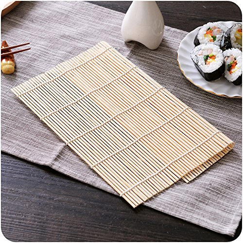 Gudelaa sushi rolling maker bamboo roller fai-da-te