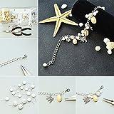 PandaHall 50 Stück Natürlichen Muschel Perlen Weiß für DIY Schmuck - 4