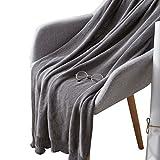 HomeMiYN Super weiche Baumwolldecke dünne Twist Stricken Decken Frühjahr Klimaanlage Bett werfen Abdeckung für Sofa und Couch 85 x 140 cm