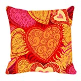 meSleep Digitally Printed Valentine Cushion Cover - Yellow (98-valentine)
