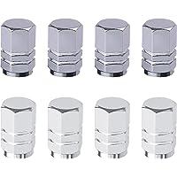 8 Bouchons de Tige de Valve de Pneu en Aluminium avec Joint Hexagonal Bouchons de Valve de Pneu universels Bouchons Anti…
