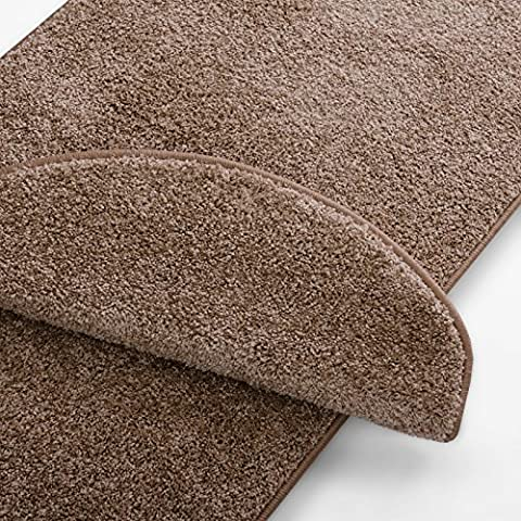 casa pura® Shaggy Carpet Floor Runner, Bali - Beige | Customisable Width & Length | Matching Stair Treads Avail. (66 x 200