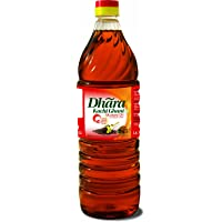 Dhara Kachi Ghani Oil, Mustard, 1L