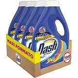Dash Detersivo Liquido Lavatrice, 100 Lavaggi (4 x 25), Salva Colore, Maxi Formato, Pulizia Profonda, per Tutti i Capi