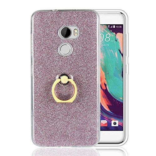 HTC One X10 Hülle mit Ring Ständer, Funluna Bling Glitzer Handyhülle Weich TPU Silikon Schutzhülle Schale Tasche mit 360 Rotierendem Ring Fingerhalterung Ständer für HTC One X10