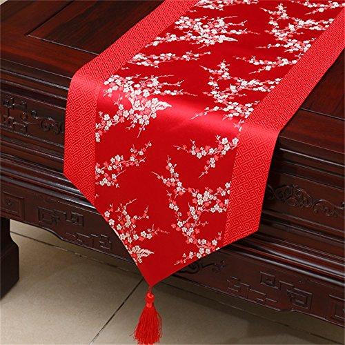 Shopping- Chinese Pastoral Tischläufer Tischdecken Kaffeetisch Bettwäsche Flagge Europäische Tuch Kunst ( farbe : Rot , größe : 33*150cm )