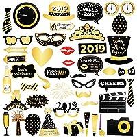 2019 46 Photo Booth Props Cabina de Fotos Accesorios Photocall Divertido DIY Kit para el partido