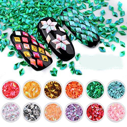Amlaiworld 12 cajas diamantes deslumbrantes puntas
