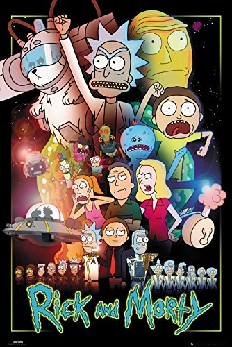 Rick And Morty Wars Póster multicolor