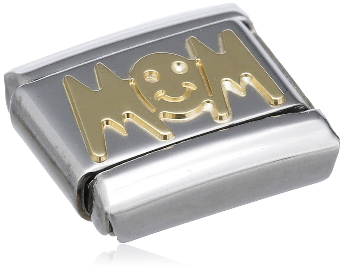 Nomination Composable Classic Signs Mom Stainless Steel and 18K Gold