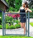 Gartentür zum Doppelstabmattenzaun anthrazit - Höhe 200 cm / Breite 100 cm