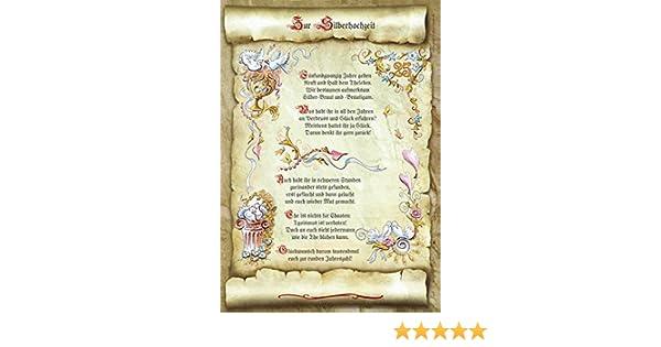 Gedicht Silberhochzeit Hochzeit Urkunde Geschenk Präsent Jubiläum