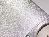 #2: CVANU® Glitter Silver Self Adhesive Shelf Liner Film Vinyl Peel-Stick Multipurpose Roll