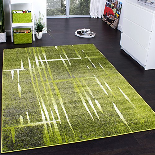 Designer Rug - Contemporary - Short Pile - Mottled Green Black Cream, Size:230x320 cm