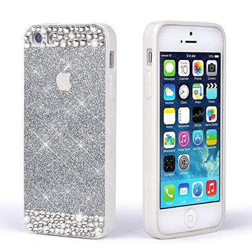 Pour Coque iPhone 6 Plus/6s Plus , iNenk® Mou TPU cas Paillettes paillettes Téléphone Mobile ensembles Silicone téléphone Shell luxe diamant couvercle manchon protection pour les femmes-rose Argent