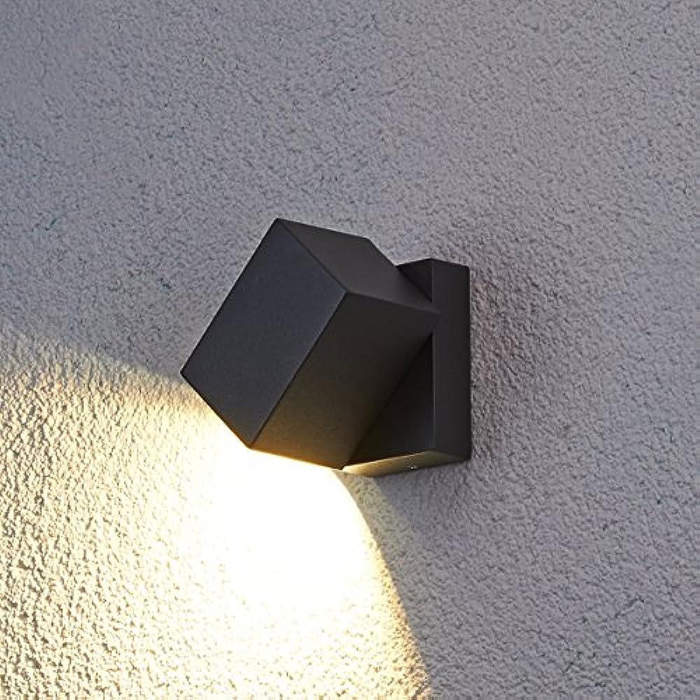 LED Außen Leuchte Wand Garten Hof Beleuchtung anthrazit Bluetooth Lautsprecher