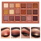 SEPROFE Eyeshadow Palette Professional Smokey Eye Shadows Nudes Highly Pigmented 18 Warm Chocolate Colors Matte Shimmer…