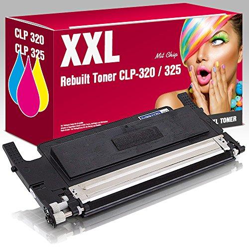 ms-point® 1x Rebuilt Toner für Samsung CLP-320 CLP-320N CLP-325 CLP-325N CLP-325W CLX-3180 CLX-3185 CLX-3185FN CLX-3185FW CLX-3185 CLX-3185W ersetzt CLT-K4072S Black Schwarz