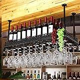FAFZ Wein Glashalter,Wein Glas Rack, Weinglas Hanger, Stemware Rack,Weinglas Rack Stemware Weinregale ( Farbe : Schwarz , größe : 120*35cm )