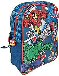 Mochila para Niño Marvel Los Vengadores - Bolso Escolar Avengers - Capitán América, Hulk,