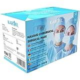 KAROFI - Mascherine Chirurgiche Tipo IIR (II R, 2R) Medico, testate e approvate, BFE > 98%, 4 strati, certificate CE EN14683: