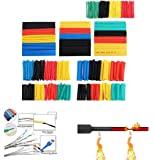 164 Pcs Heat Shrink Tubing kit, Electric Insulation Heat Shrink Wrap Cable Sleeve,5 Colors in 8 Sizes