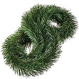 FairyTrees Weihnachtsgirlande FairyGarland, künstliche Tannengirlande aus PVC, Farbe: Dunkelgrün, Länge: 6 m, FTZ02-6-D