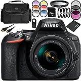 Nikon D5600 DSLR Camera With Nikon AF-P DX NIKKOR 18-55mm F/3.5-5.6G VR Lens 11PC Accessory Bundle – Includes 64GB SD Memory Card + MORE