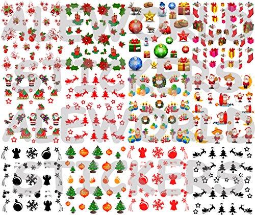 100 AWS 50-100-300-500 Pezzi Etichette Adesive Buon Natale 57 x 32 mm Chiudi Pacco Regalo scrivibili