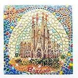 lvedu Barcelona España Creative resina imán para nevera Souvenir Collectibles regalo mundial del turismo