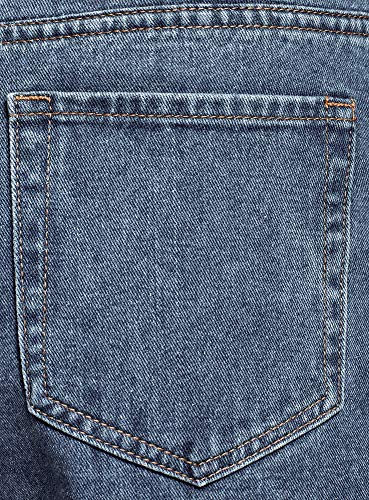 oodji Ultra Damen Jeans Mom Fit mit Hohem Bund, Blau, 29W / 32L (DE40...