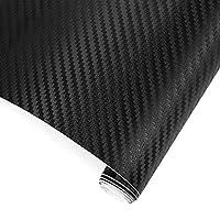TRIXES Autocollant voiture 3D fibre carbone vinyle recouvrement 1500 mm X 300 mm     Vinyle en fibre de carbone ombré fantastique noir brillant. Ce film vinyle fibre carbone collera à de nombreuses surfaces telles que les panneaux de carrosserie d...