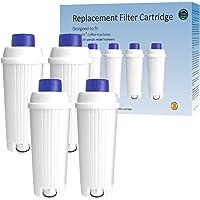Somune Lot de 4 filtres à eau pour machines à café Delonghi de'longhi dlsc002 - Filtre à eau à charbon actif…