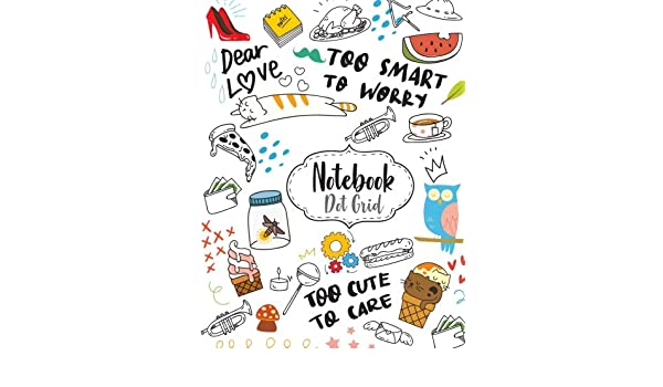 Buy Notebook Dot Grid Cute Cartoon Drawing Cover Dot Grid