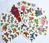 10pcs/package heißer Verkauf Tattoo-Aufkleber verschiedenen Ausführungen einschließlich Lotus / Goldfisch / bunte Schmetterlinge und Blumen / Schmetterling Engel / schwarze Blumen / etc