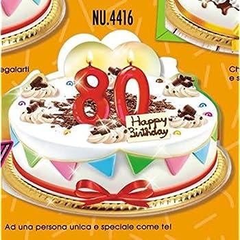 Auguri Buon Compleanno 80 Anni.Subito Disponibile Biglietto Auguri Compleanno 80 Anni A