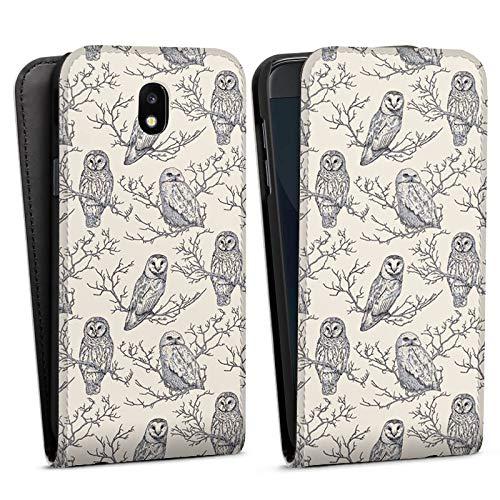 DeinDesign Flip Case kompatibel mit Samsung Galaxy J5 2017 Tasche Hülle Eulen Forest Wald