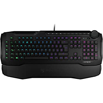 ROCCAT Horde AIMO - Membranical RGB Gaming Keyboard, AIMO LED Illumination, improved island key layout, Quick-fire macro keys, configurable Tuning Wheel, USB, black