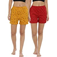 JOVEN Women Boxer Shorts (Pack of 2)