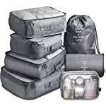 7 Pack Packing Cubes Value Set for Travel Luggage Organiser Bag Compression Pouches Clothes Suitcase Packing Organizers...