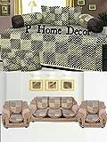P Home Decor Checkerd Design Golden Brown Diwan - Best Reviews Guide