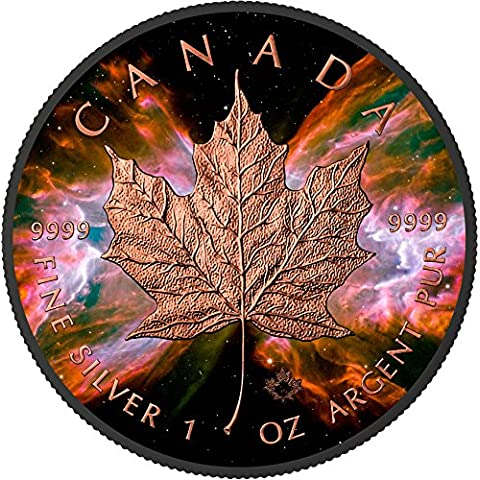 BUTTERFLY NEBULA Maple Leaf Space Collection 1 Oz Silver Coin 5$ Canada 2016 Moneda