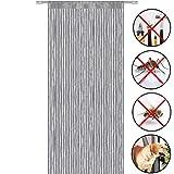 Fadengardine,perfekt für die verwendung als fliegengitter Türvorhang Fadenvorhang (Gr. 100cm x 200cm)