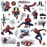 Marvel Superhero Comic-Amazing Spider-Man Autocollant mural-prédécoupés Peel et bton Autocollant Décor fête Decaration