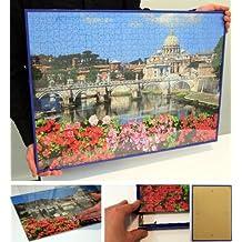 Especial de fotos para Puzzles, marcos de plástico, negro, 37,5x98 cm (Panorama)