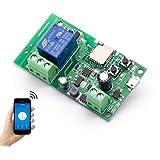 EACHEN WiFi Wireless Inching Relay Momentary/Self-Locking Switch Module DIY Smart Home Remote Control DC 5-32V AC90-260V Ewel