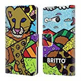 Head Case Designs Officiel Britto Club Lion Illustrations Abstractes Coque en Cuir à...